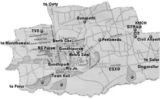 city map of coimbatore